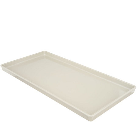"Martha Stewart Large 10.5"" x 22"" Double Bowl Pet Tray"