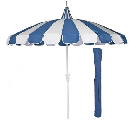 ED On Air 8' Pagoda Umbrella w/ Cover by Ellen DeGeneres