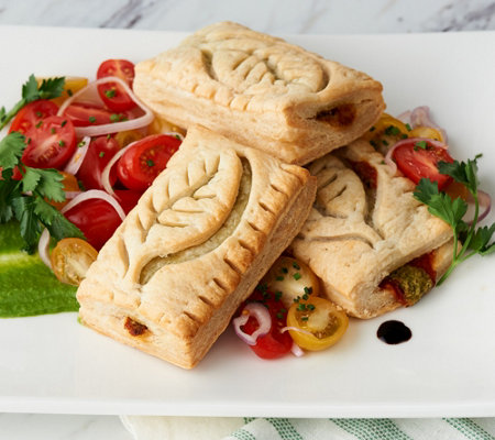 Authentic Gourmet (15) 3-oz Pesto Tomato, Ricotta Leaf Pastries