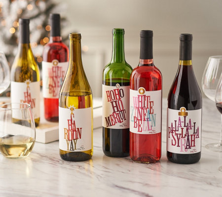 SH 12/3 Vintage Wine Estates Holiday Cheers 12 Bottle Wine Set