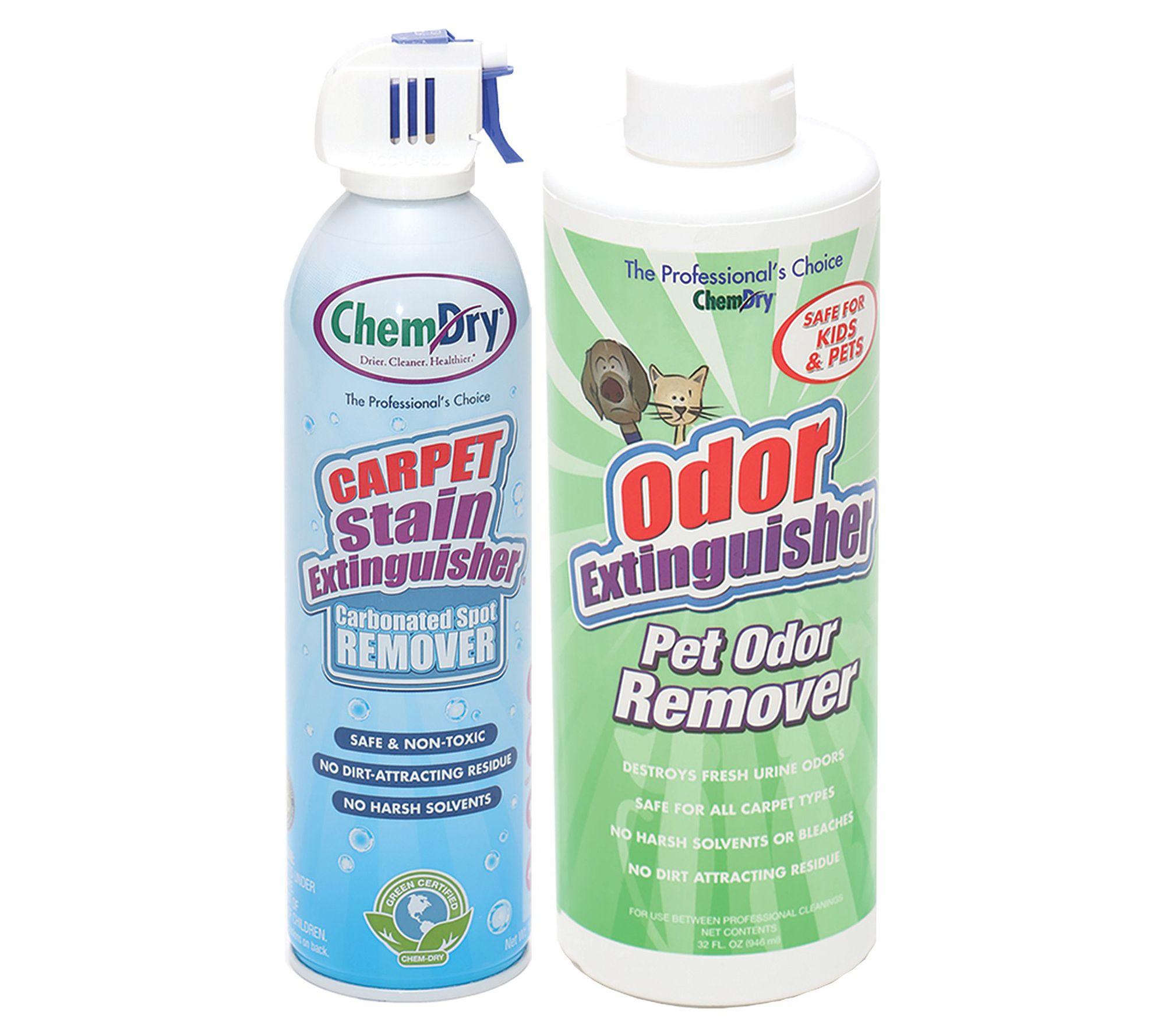 Chem Dry Stain Extinguisher Pet Odor Extinguisher Set Of 2 Qvc Com