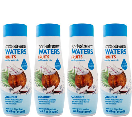 SodaStream Waters Fruits Coconut Sparkling Drink Mix 4-Pack