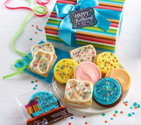 Cheryl S 10 Piece Birthday Cookie And Brownie Duo Delight