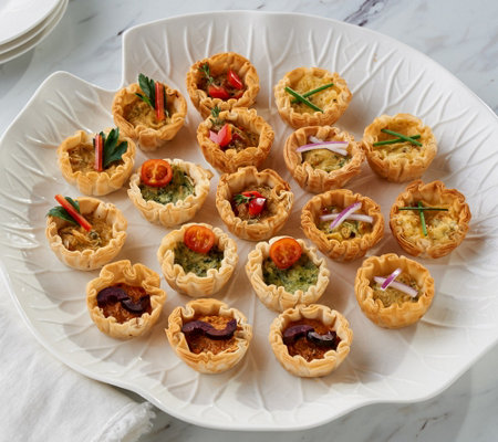 White Toque 48 Piece Veggie & Mediterranean Mini Quiche