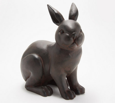 As Is Martha Stewart Small Bunny Garden Sculpture