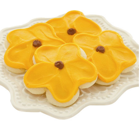 Cheryl's 48-pc Buttercream Frosted Sunflower Cut-out Cookies