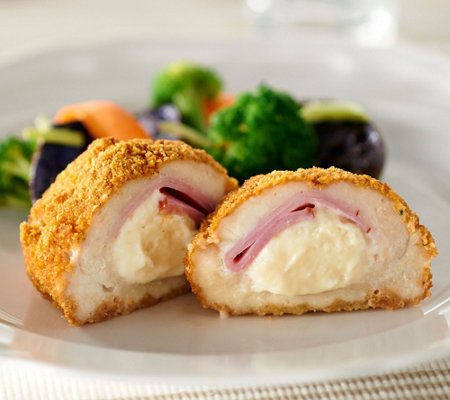 Heartland Fresh 8 Breaded Stuffed Chicken Breasts Cordon Bleu