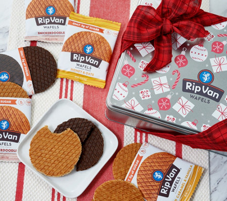 Sh 12 2 Rip Van Wafels 20 Pack Holiday Snack Wafels In Tin