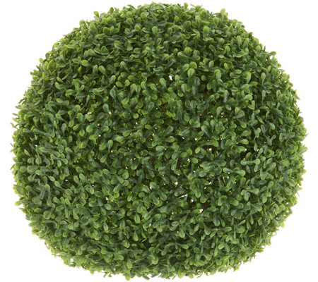 """As Is"" Barbara King 16"" Faux Boxwood Topiary Sphere"