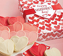 Cheryl's 12-Pc Valentine Buttercream Frosted Cutout Cookie Box - M120472