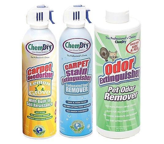 Chem Dry Stain Pet Odor Extinguisher With Carpet Deodorizer Qvc Com