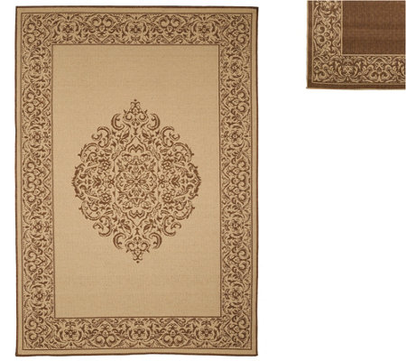 Veranda Living Naturals Indoor/Outdoor 5x7 Medallion Reversible Rug