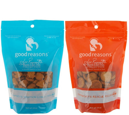 Good Reasons Jill Rappaport Rescue Me Collection 2pk Dog Treats