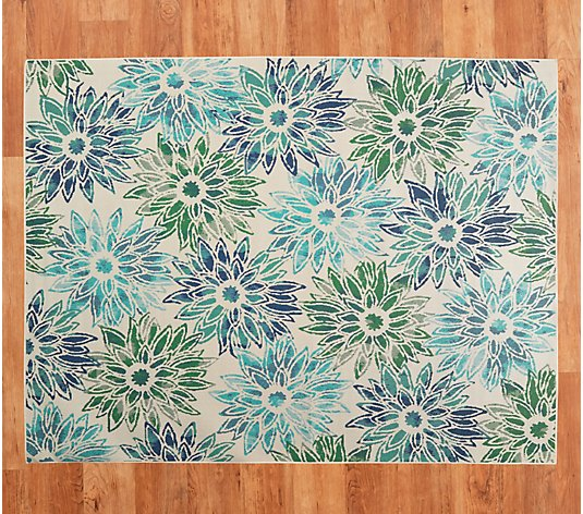 Veranda Living 7' x 10' Floral Bloom Indoor/Outdoor Rug