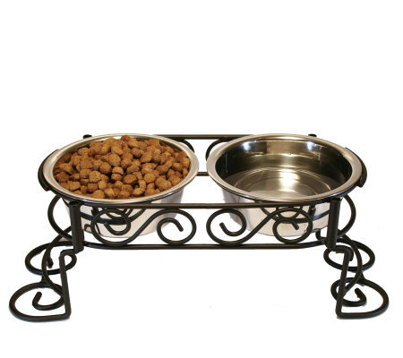 Scrollwork Double Diner 1-qt Dog Dish
