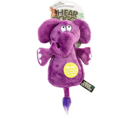 Hear Doggy Flattie Elephant with Chew Guard