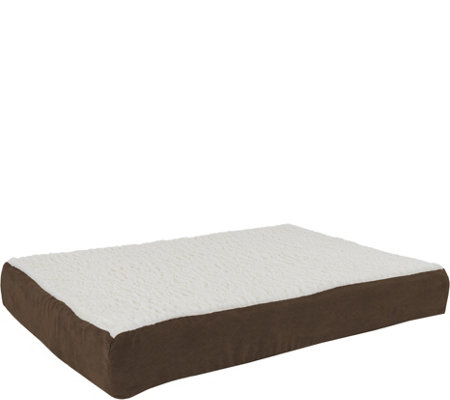 PETMAKER Orthopedic Sherpa Top Pet Bed - Medium