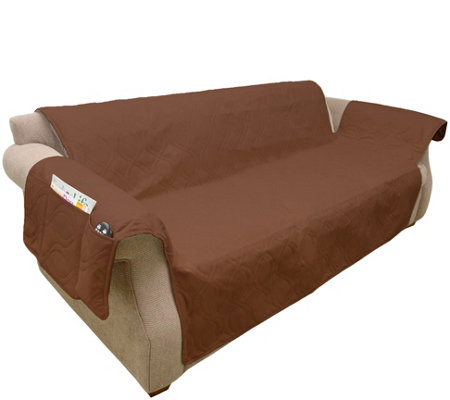 Remarkable Petmaker Stain Resistant Couch Cover Qvc Com Caraccident5 Cool Chair Designs And Ideas Caraccident5Info