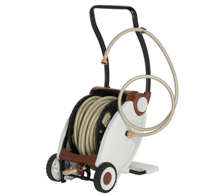 100-foot Hose with Foot Crank Powered Hose Reel