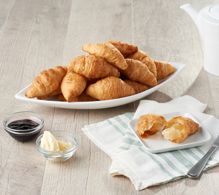 SH12/3Authentic Gourmet 50 Mini Butter Croissants Auto-Delivery