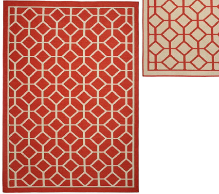 Veranda Living Colors Indoor/Outdoor 5x7 Geometric Reversible Rug