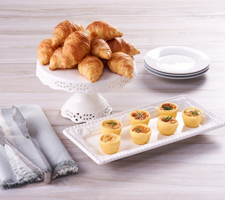 Authentic Gourmet 25 Mini Croissants & 25 Mini Quiche
