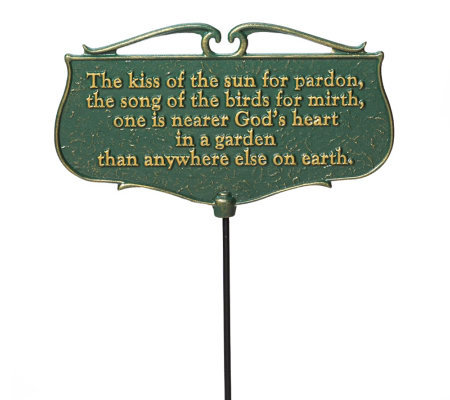 The Kiss of the Sun - Garden Poem Sign