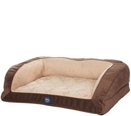 Serta Dual Support Orthopedic & Gel Memory Foam Pet Bed