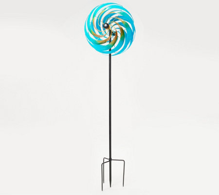 Plow & Hearth Oversized Illusion Swirl Wind Spinner