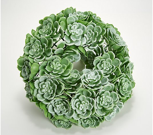Wicker Park Faux Succulent Indoor/Outdoor Candle Ring