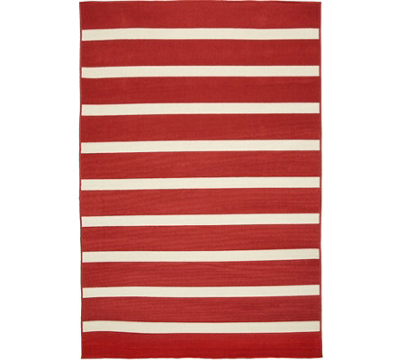 Tommy Bahama Indoor/Outdoor 5x7 Awning Stripe Rug