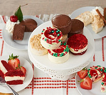 SH11/5 Junior's 32 Holiday Mini Cheesecake & Layer Cakes Auto-Delivery - M59879