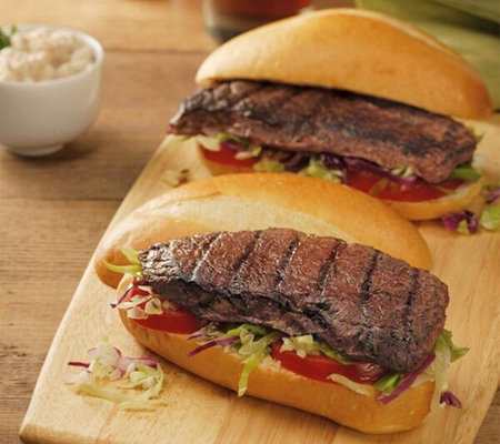 Kansas City Steak (10) 4-oz Tuscan Garlic Top Sirloin Sandwich