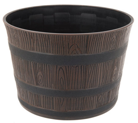 Bernini Rustic Barrel Planter
