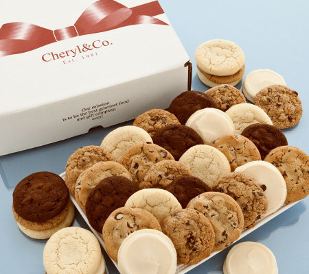 Cheryl's 48-Piece Assorted Cookie Box