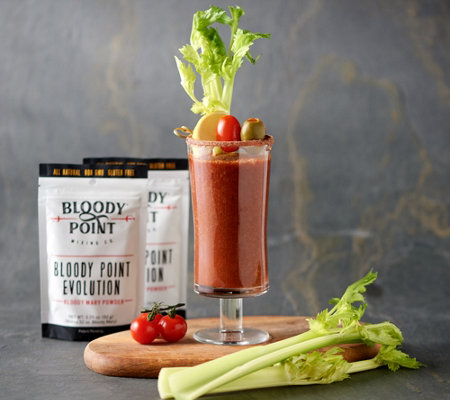 Bloody Point Mixing Co Set of 4 Bloody Mary Powder Pouches