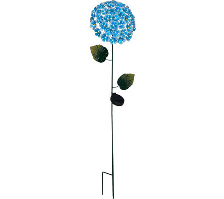 "Ultimate Innovations 43"" Solar Hydrangea Stake"