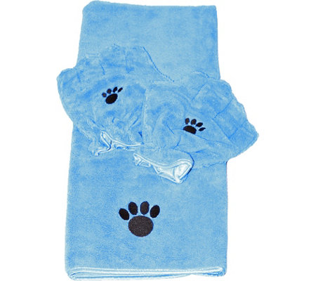 Pamper Your Pet Microfiber Towel & Mitt Set byCampanelli