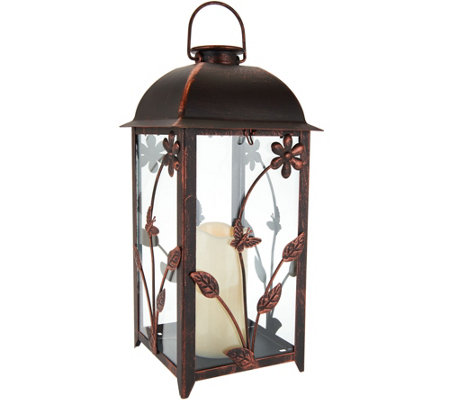 Compass Home Indoor/Outdoor Solar Candle Lantern