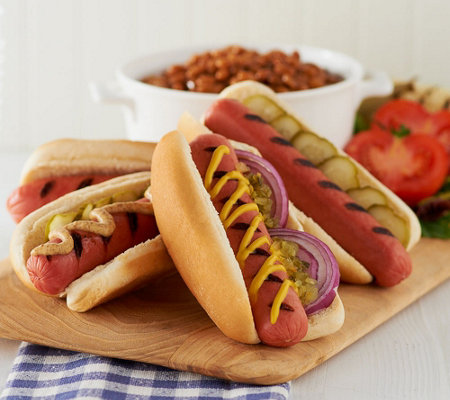 Kansas City Steak Company (12) 3.2oz. All Beef Hot Dogs Auto-Delivery