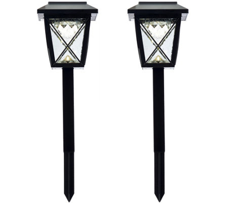 Compass Home Set of 2 Solar Rotating Pathway Lights