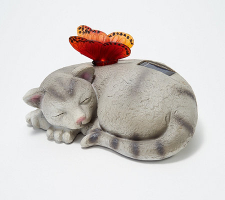 Plow & Hearth Solar Sleeping Animal Garden Statue
