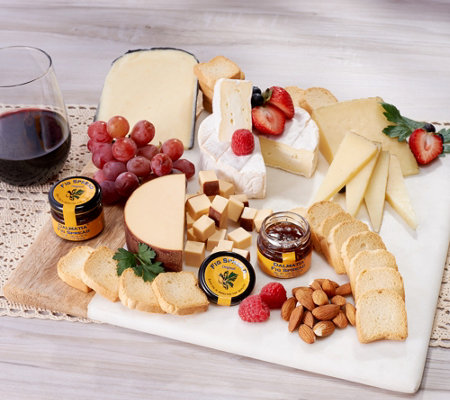 World's Best Cheeses Imported Four Cheese Sampler with Fig Spread