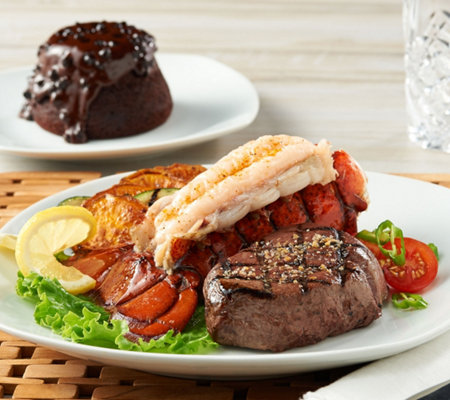 Rastelli Market Fresh (4) 6oz. Filet Mignon, 4 Lobster Tails & 4 Lava Cakes