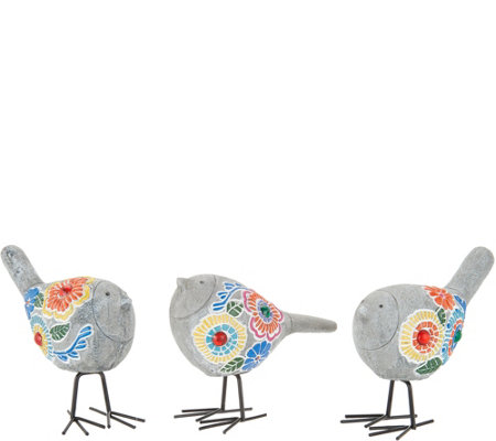 Plow & Hearth Set of 3 Mosaic Birds