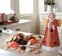 SH 11/5 Cheryl's Angel Tin with 45 Cookies and Confections - M59391