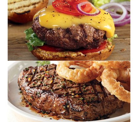 Kansas City Steaks (6) 10-oz KC Strips & (8) 4-oz Steakburger