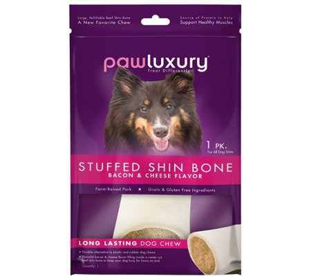 Pawluxury Filled Shin Bone Bacon & Cheese