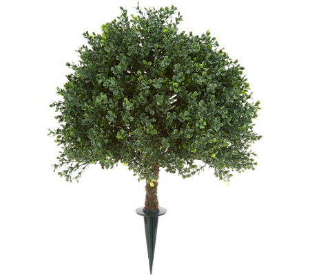 "English Gardens Indoor/Outdoor 20"" Boxwood Sphere with Ground Stake"