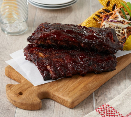 Corky's BBQ (4) 1-lb Competition Style Baby Back Ribs w/ Sauce